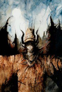Night Gaunts, illustration by Daniele Serra